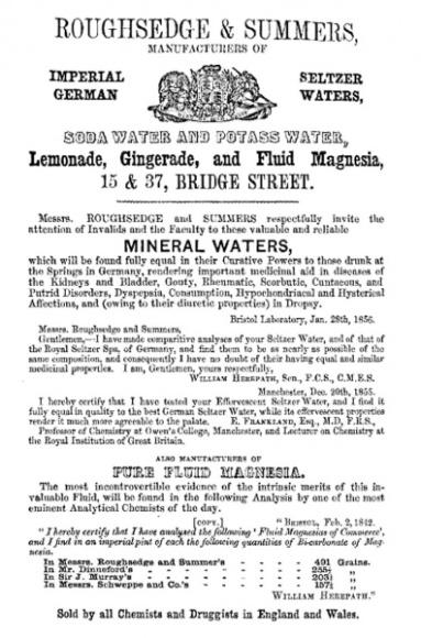 Roughsedge & Summers advert, 1859