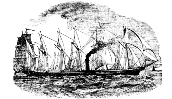 SS Great Britain's maiden voyage, Bristol Mercury, 1 February 1845